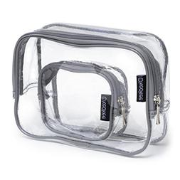 Keokee Clear Toiletry Bag Set | Quart Size with Smaller Case