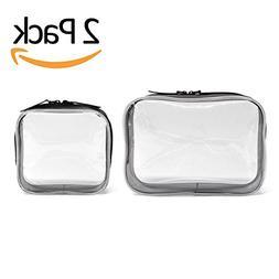 Clear Toiletry Makeup Bags, PVC Plastic Travel Cosmetic Bag