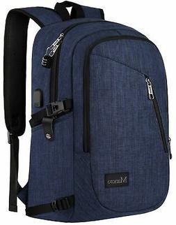 College Backpack, Business Slim Laptop Backpack, Mancro Anti