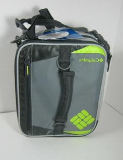 Columbia Ultra Safe Insulated Lunch Pack Box Gray Grid Line