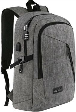"Mancro Computer Bag with USB Charging Port Lock Fits 15.6"" L"