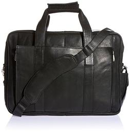 Piel Leather Computer Briefcase 2102,Saddle Leather,US