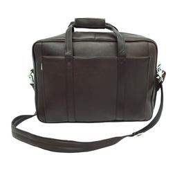 Piel Leather Computer Briefcase, Chocolate, One Size