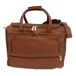 Piel Leather Computer Carry-All Bag, Saddle, One Size