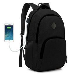 Computer Laptop USB Charging Backpack School Bag Pack Adult