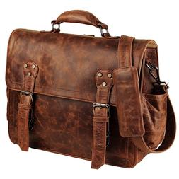 Handmade Convertible Laptop Backpack / Briefcase, Leather Co