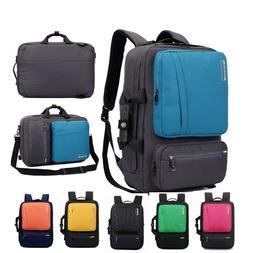 Convertible Laptop Briefcase Multifunction School Bag Unisex