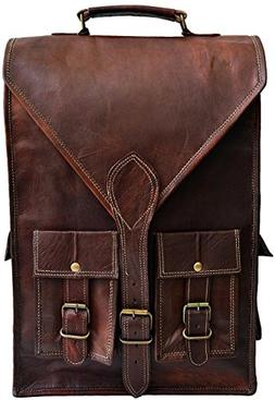 "Jaald convertible leather 15.6"" laptop bag backpack messenge"