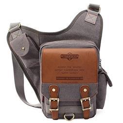 KAUKKO Retro Casual Shoulder Backpack Sports Canvas Handbag