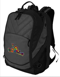 COOL PEACE FROGS Backpack BEST Laptop COMPUTER BAG - PADDED
