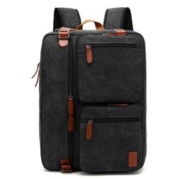 "CoolBELL Convertible 15.6"" Laptop Backpack Messenger Shoulde"