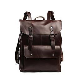 Crazy Horse PU Leather Backpack School Bag Laptop Bags Satch