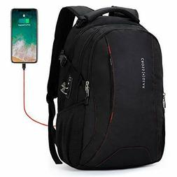 Cross Gear Laptop Backpack with USB Charging Port and Anti T