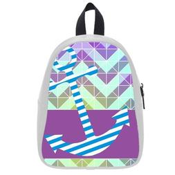 Custom Fashion Childrens Backpacks Anchor With Abstract Zigz