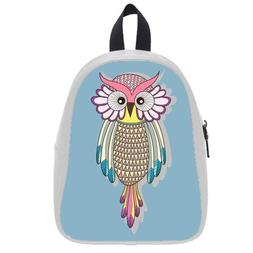 Custom Fashion Childrens Backpacks Colorful Owl PU leather S