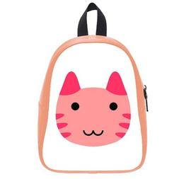 Custom Fashion Childrens Backpacks Cute Cartoon Cat Face PU
