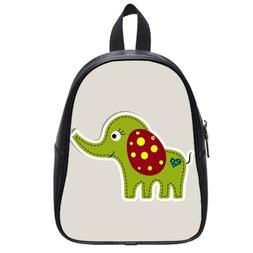 Custom Fashion Childrens Backpacks Cute Cartoon Elephant PU