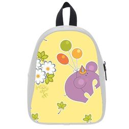 Custom Fashion Childrens Backpacks Cute Cartoon Elephant Wit