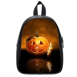 Custom Fashion Childrens Backpacks Happy Halloween Pumpkin A