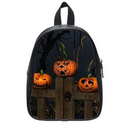 Custom Fashion Childrens Backpacks Happy Halloween Pumpkins