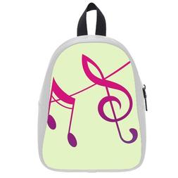 Custom Fashion Childrens Backpacks Music Note Art PU leather