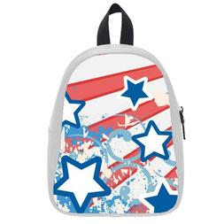 Custom Fashion Childrens Backpacks Stars Art PU leather Scho