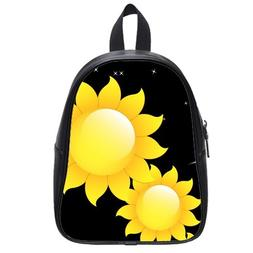 Custom Fashion Childrens Backpacks Beautiful Sunflowers PU l