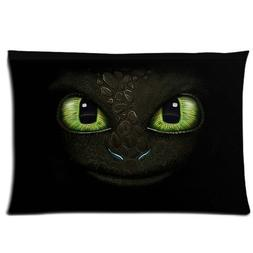Custom How to Train Your Dragon Eyes of Toothless Pillowcase