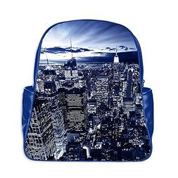 Custom New York night view Interest Print PU Leather Laptop