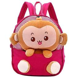 Your Gallery Baby's Cute 3D Monkey Little Backpack Plush Bag