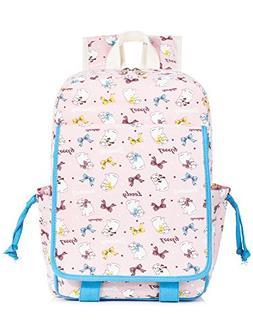 Leaper Cute Cat Backpack for Kids Canvas Backpack Daypack Sc