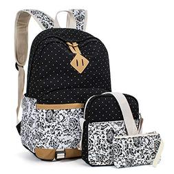Leaper Cute Floral Backpack School Bag Travel Bag Shoulder B