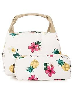 Cute Insulated Lunch Bag for Girls, Student Lunch Tote Bag L