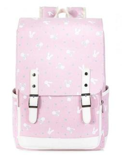 Leaper Cute Laptop Backpack for Kids Canvas Girls Daypack Sc