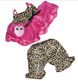 "Cute Leopard Owl Outfit Most 14"" - 18"" Build-a-bear, Vermont"