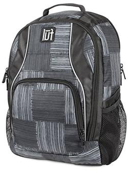 FUL Dax Padded Laptop Backpack, Fits Up to 15in Laptops, Bla