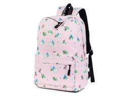 Leaper Deer Backpack Laptop Bag School Tote Lavendar Purple
