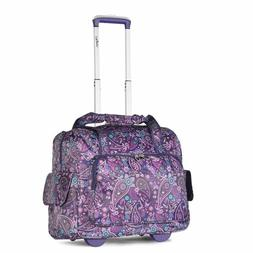 Olympia Deluxe Fashion Rolling Overnighter Travel Tote, Purp