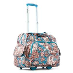 Olympia Deluxe Fashion Rolling Overnighter, Paisley, One Siz