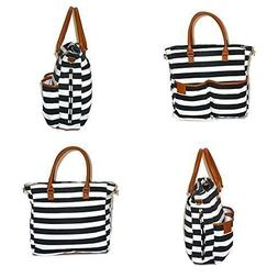 Designer Tote Diaper Bag for Girls and Boys with Baby Changi