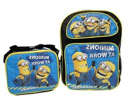 Despicable Me 2 Minions At Work Large 16 Backpack School Bag