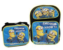 """Despicable Me 2 Minions At Work Large 16"""" Backpack School Ba"""