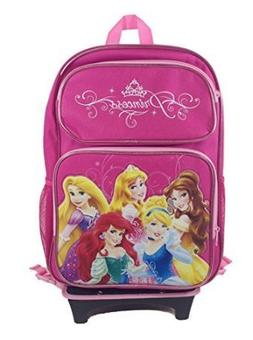 Disney Princess Rolling Backpack W/detachable Wheel Trolley-