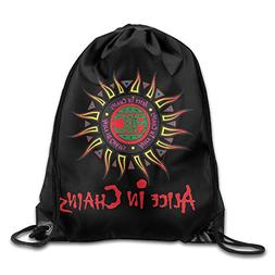 Drawstring Tote Backpack Bag Alice In Chains Logo