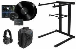 DENON DS1 Serato DJ USB Vinyl Audio Interface+Headphones+Lap