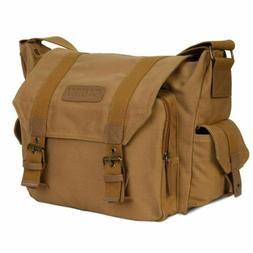 Durable Canvas Camera Bag Shockproof Shoulder Messenger for