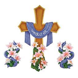 Easter He Is Risen Wall Cross - 3pc