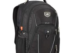 High Sierra Elite Business Backpack Gray Fits 17'' Laptop Cu