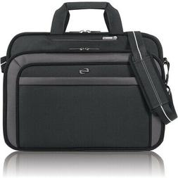 Solo Empire 17.3 Inch Laptop Briefcase, TSA Friendly, Black/