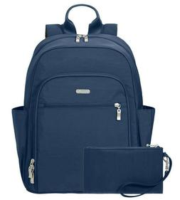 Essential Laptop backpack with RFID Messenger Bag, Pacific,